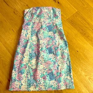 Lilly Pulitzer Strapless Print Dress